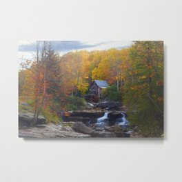 Glade Creek Mill in Autumn Metal Print