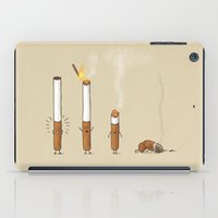 smoking iPad Cases featuring Smoking Kills by Terry Fan