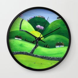 Hilly High Hills Wall Clock