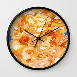 Orange lips Wall Clock