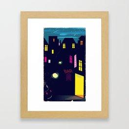 Paris Nightclub Framed Art Print