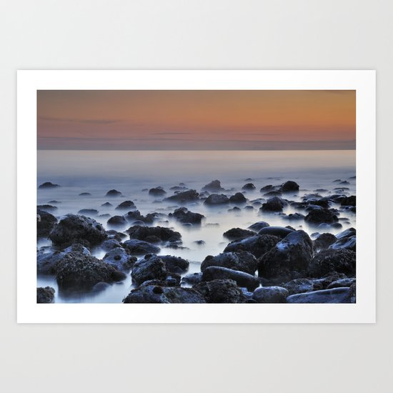 floating stones Art Print