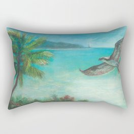 Belle's Journey: Island Hopping Rectangular Pillow