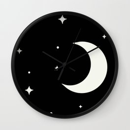 Stars and moon Wall Clock
