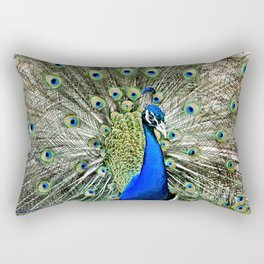 Peacock Glory Rectangular Pillow
