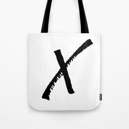 Letter X Ink Monogram Tote Bag