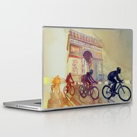 tour de france Laptop & iPad Skins featuring Tour de France by takmaj
