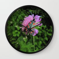 moth Wall Clocks featuring moth by giol's