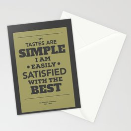 Satisfied with the best Stationery Cards