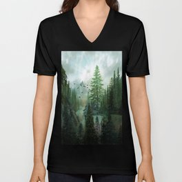 Mountain Morning 2 Unisex V-Neck