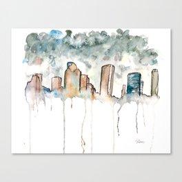 Houston Rain Canvas Print