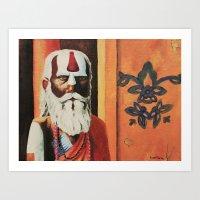 religious Art Prints featuring Religious, Man by Ryan Villarma