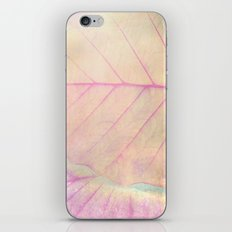 Pink Leaf Abstract iPhone & iPod Skin