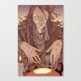 The Bog Witch Canvas Print