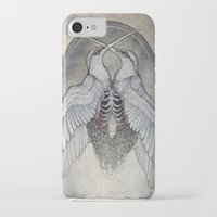 caitlin hackett iPhone & iPod Cases featuring Coalesce art print  by Caitlin Hackett