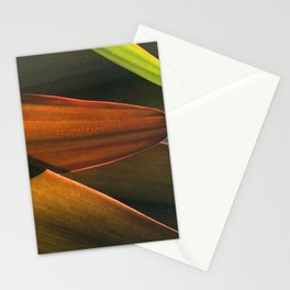 Abstract Mahogany Leaves Stationery Cards