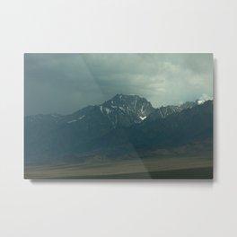 Stormy Mountains (Sierra Nevadas, California) Metal Print