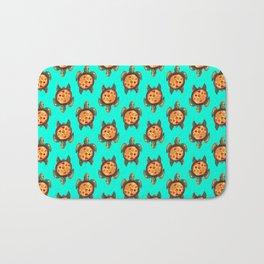 pizza turtle pattern Bath Mat