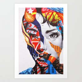 231. Like Audrey Hepburn, New York Art Print