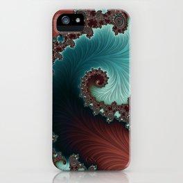 Velvet Crush - Teal/Copper iPhone Case