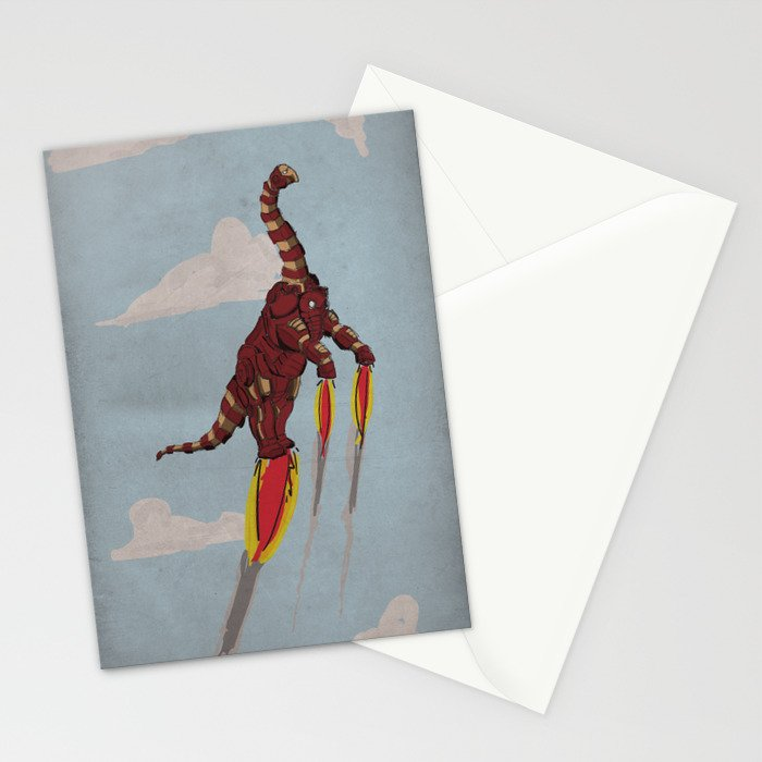 Iron Brontosaurus - Superhero Dinosaurs Series Stationery Cards