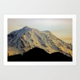 Mount Rainier Twilight Art Print