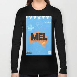 MEL Melbourne airport code Long Sleeve T-shirt