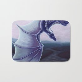 Blue Dragon with Landscape Bath Mat
