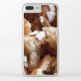 Waffles with Almonds Clear iPhone Case