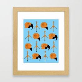 Birdskull Pattern Original Framed Art Print