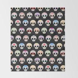 Sugar Skulls Throw Blanket
