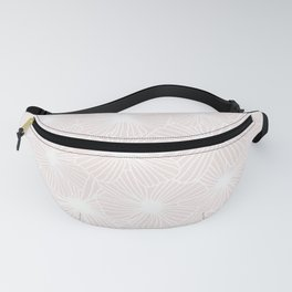 18 Cream Linear Flowers Fanny Pack