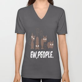 ew people cats cat ey people call attention Unisex V-Neck