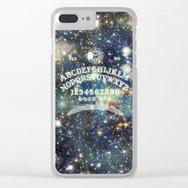 Ouija Board (Celestial Version) Clear iPhone Case