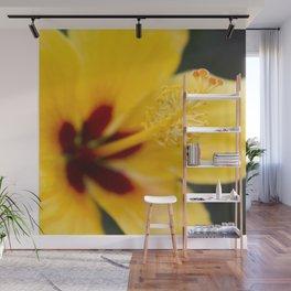 Boreas Tropical Hibiscus Lemon Drop Wall Mural