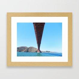 Golden Gate Shadow Framed Art Print