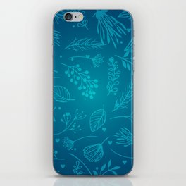 Winter flower iPhone Skin