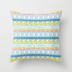 rolling seas Throw Pillow