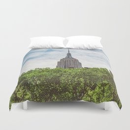 Color Empire State Building Duvet Cover