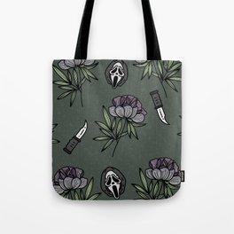 ghostface w knife ~green tones Tote Bag
