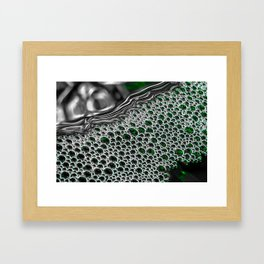Liquid Steel | Abstract Macro Photography | Green Framed Art Print