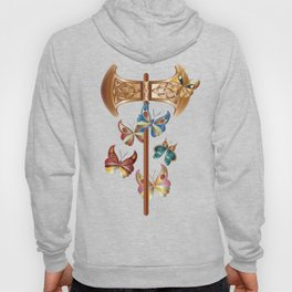 Double Headed Axe Labrys & Butterflies - Transformation Hoody