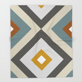 Mid West Geometric 04 Throw Blanket