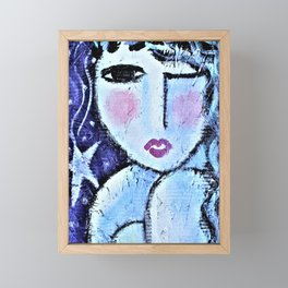 Falling Star Abstract Portrait of a Woman Framed Mini Art Print