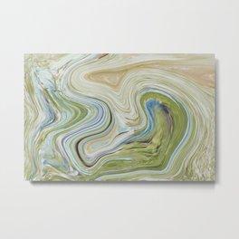 Liquid Earth Metal Print
