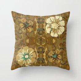Frappe Boho Floral Throw Pillow
