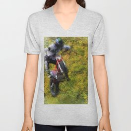 Extreme Biker - Dirt Bike Rider Unisex V-Neck