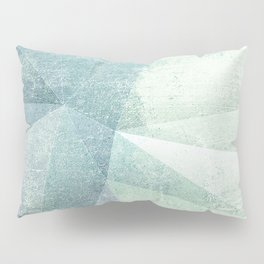 Frozen Geometry - Teal & Turquoise Pillow Sham