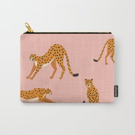 Cheetahs pattern on pink Carry-All Pouch