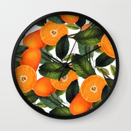 The Forbidden Orange #society6 #decor #buyart Wall Clock